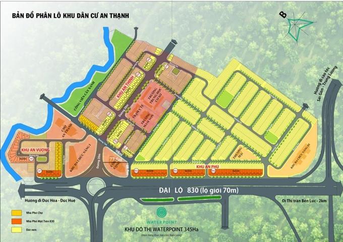 Phối cảnh tổng thể khu đất dự án Waterpoint Nam Long