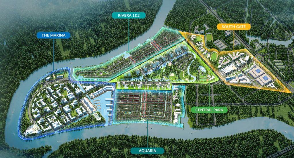 Mặt bằng dự án Waterpoint Nam Long
