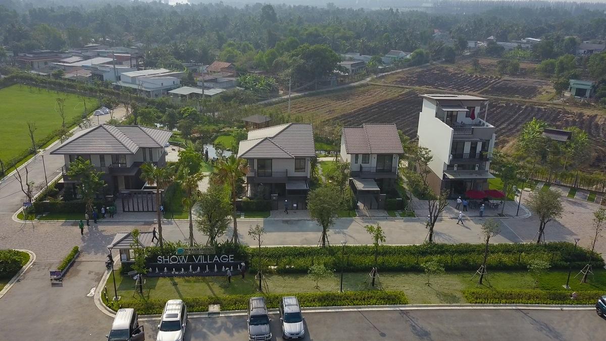 Hình ảnh khu nhà mẫu biệt thự Waterpoint Nam Long