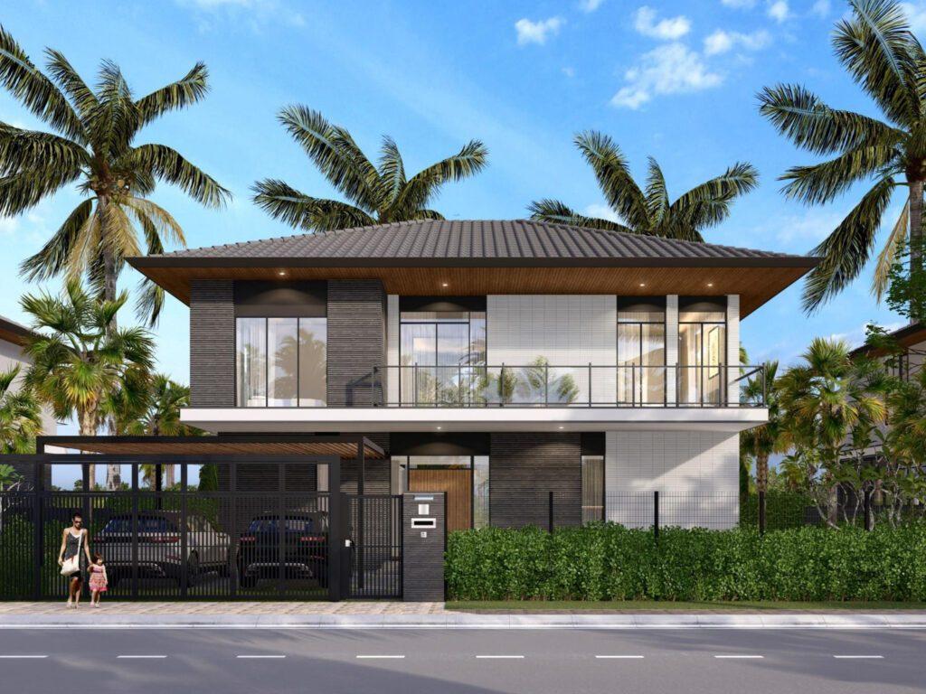 Riverfront Grand Villa mẫu 05B dự kiến Diện tích đất: từ 425m2 đến 548m2