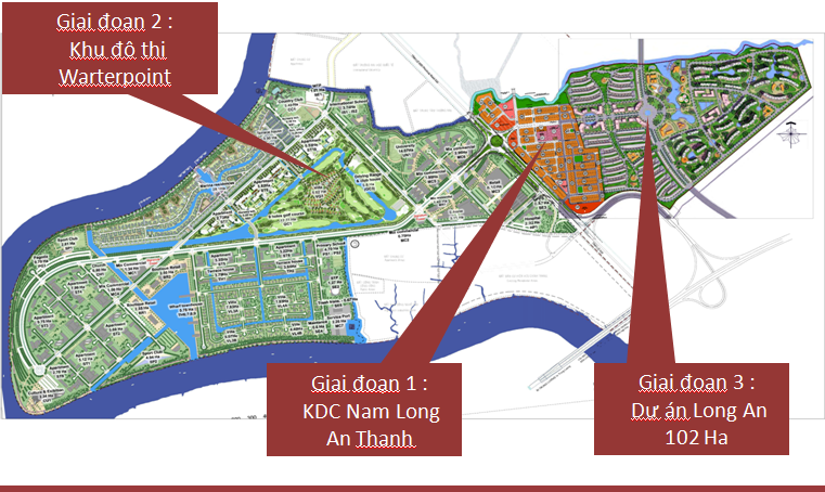 Hình ảnh vị trí dự án waterpoint nam long ( hình ảnh 1)