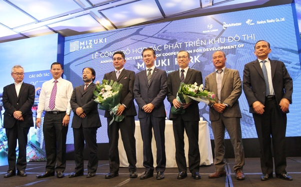 Lễ ký kết hợp tác phát triển dự án Mizuki Park giữa Nam Long và các đối tác của Nhật Bản