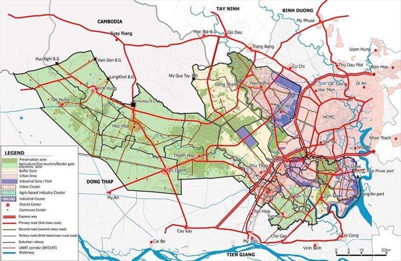 Quy hoạch tổng thể phát triển kinh tế - xã hội tỉnh Long An đến năm 2030