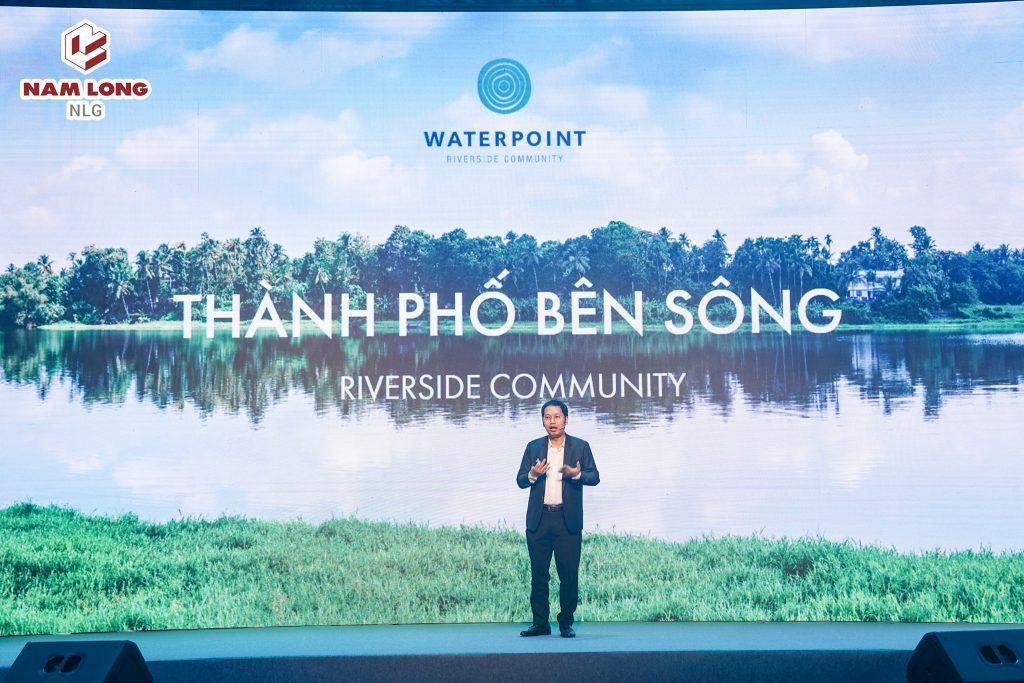 Ông Nguyễn Minh Quang – Giám đóc khối TT & KD Nam Long chia sẻ về thông tin dự án Khu đô thị Waterpoint.