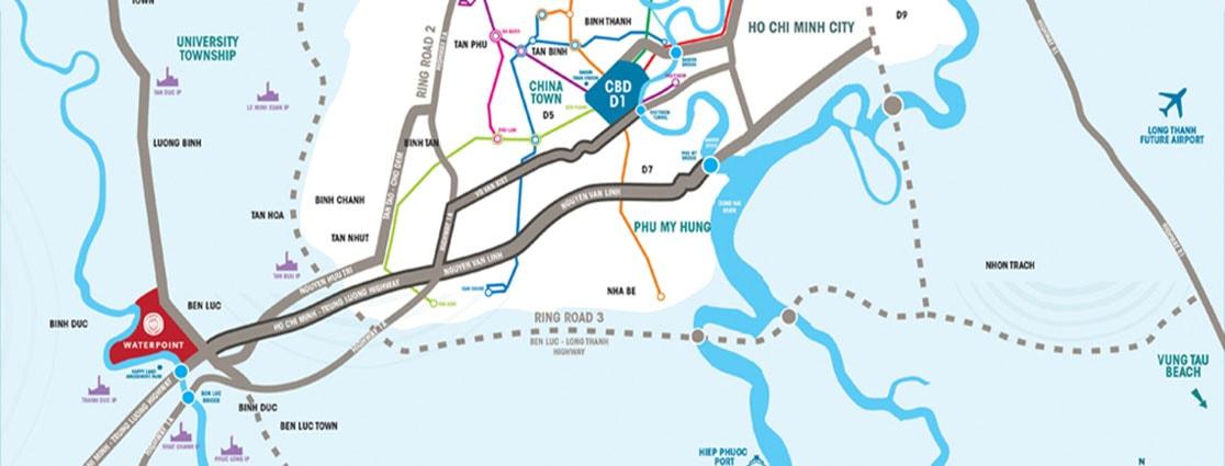 Vị trí địa lý dự án Waterpoint Nam Long