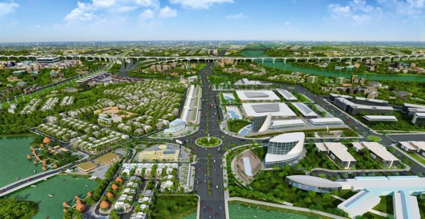 Phối cảnh tổng thể dự án Phố thương gia Nam Long