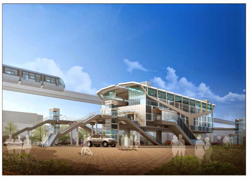 Tuyến nhà ga gần dự án Phố thương gia Nam Long