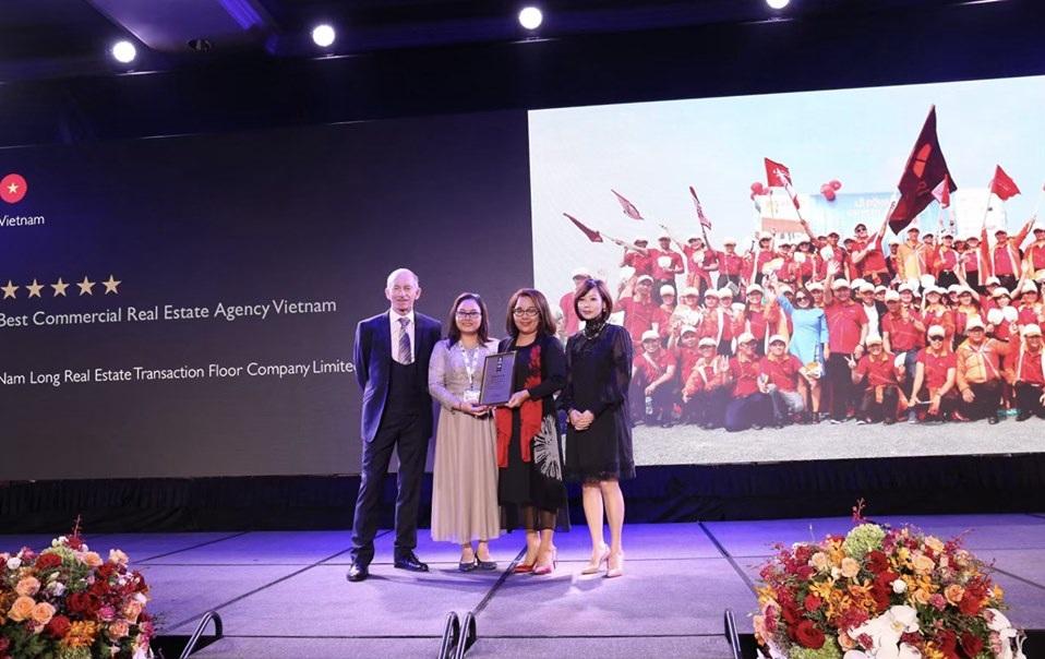"""Giải thưởng """"Best Commercial Real Estate Agency Vietnam"""" cho Sàn Nam Long"""
