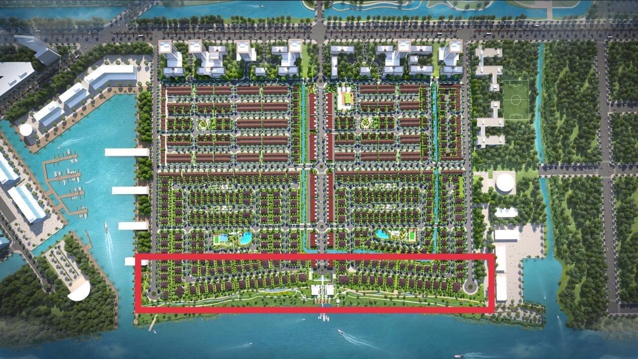 Vị trí dinh thự Waterpoint Nam Long