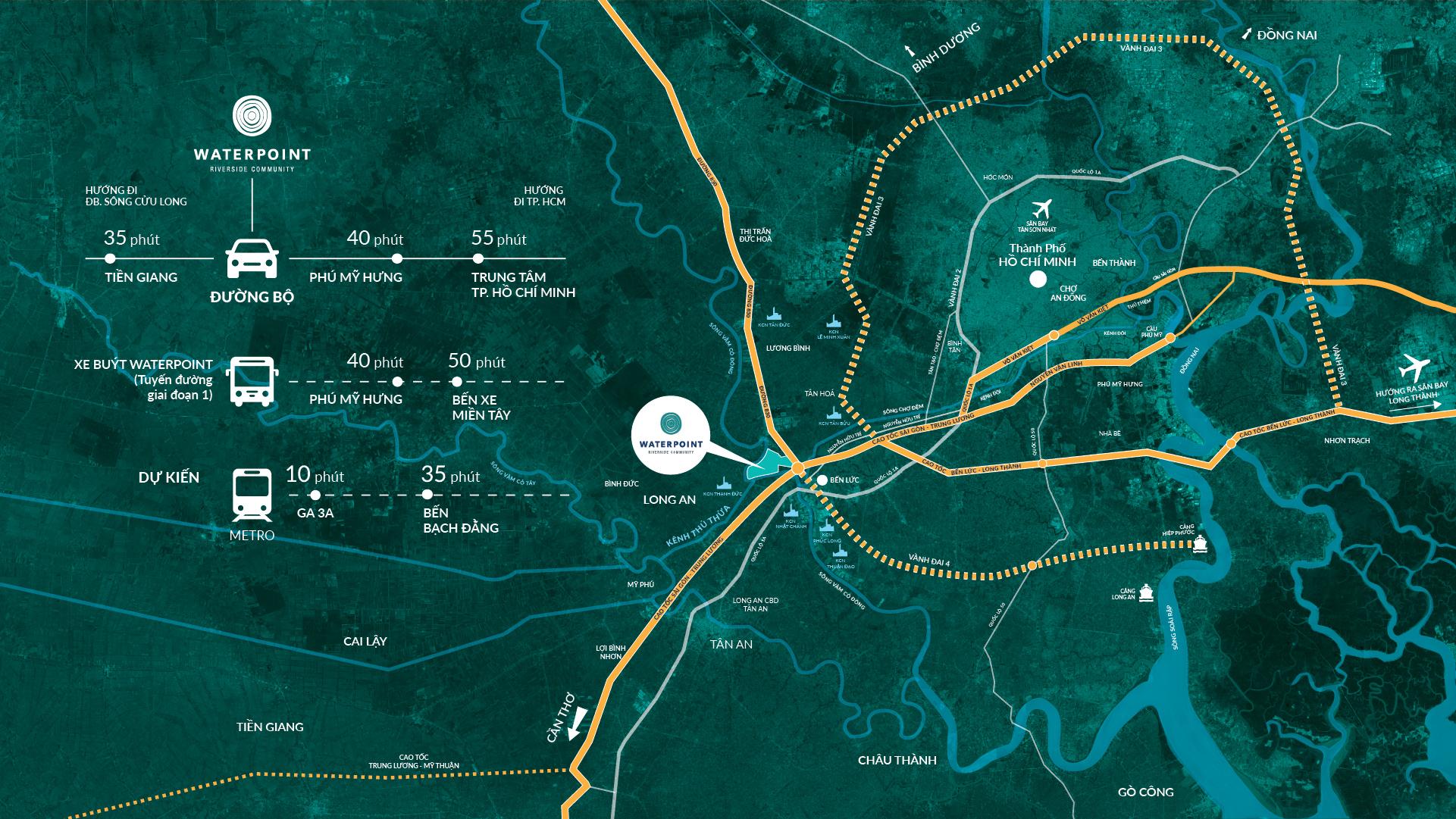 Vị tris dự án Waterpoint Nam Long