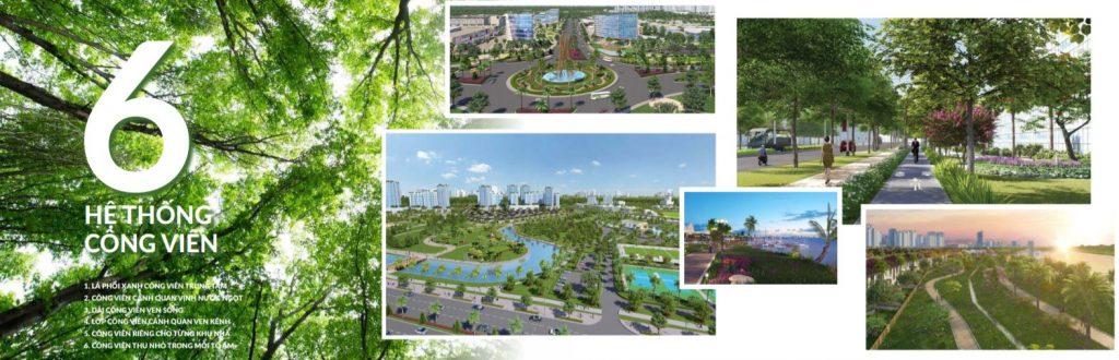 6 hệ thống công viên - Lá phổi xanh của khu đô thị