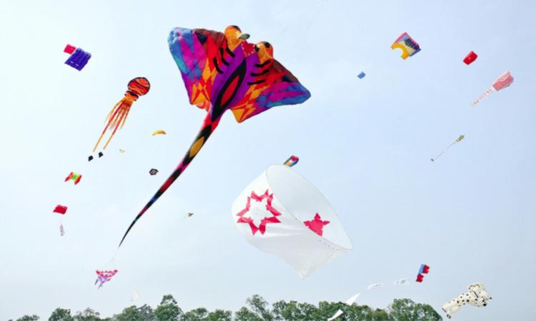 Vui chơi thỏa thích tại công viên nước vui nhộn và lễ hội thả diều khổng lồ