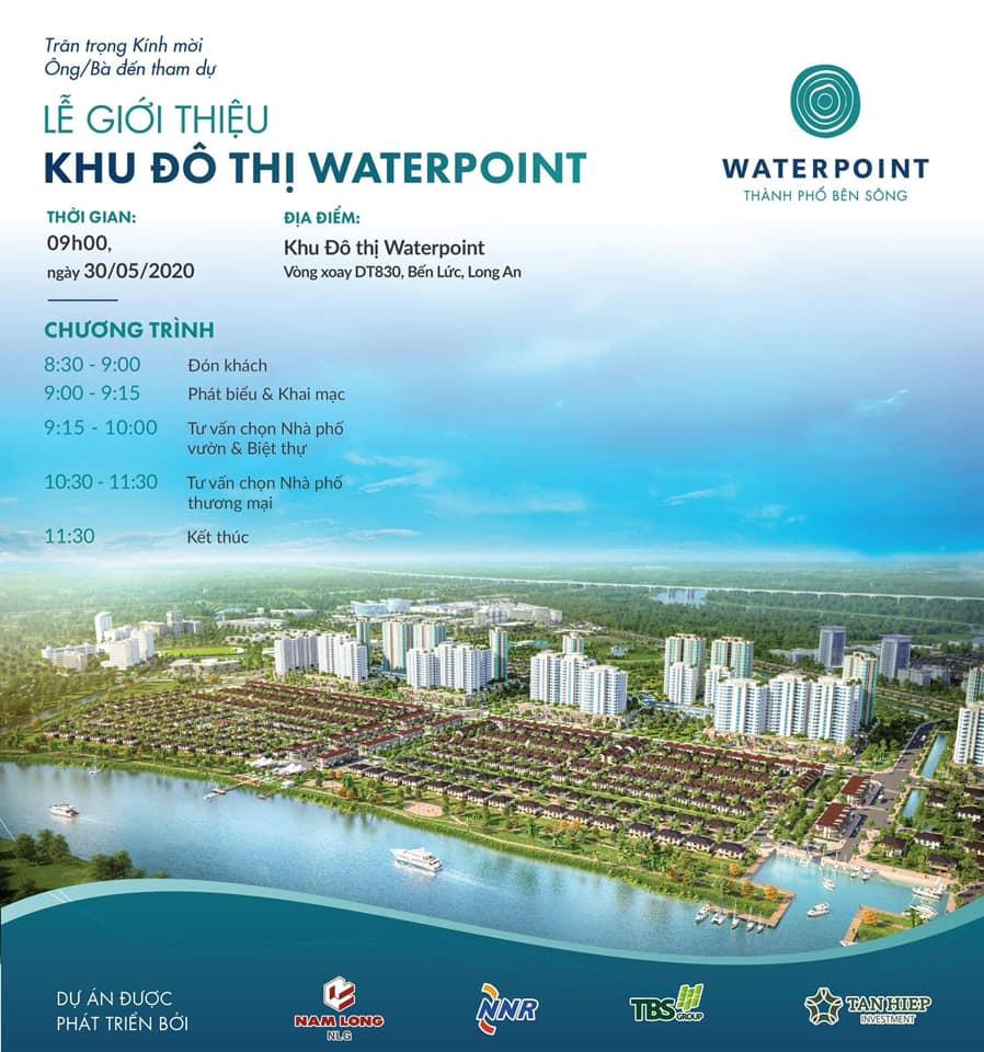 Lễ giới thiệu khu đô thị Waterpoint tổ chức ngày 30/05/2020