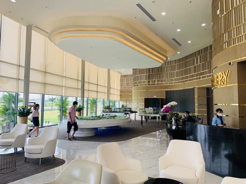 Bên trong khu văn phòng bán hàng dự án Waterpoint Nam Long
