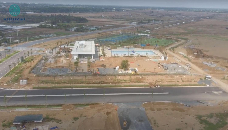 Trục đường chính dẫn vào khu River cung đã được hình thành