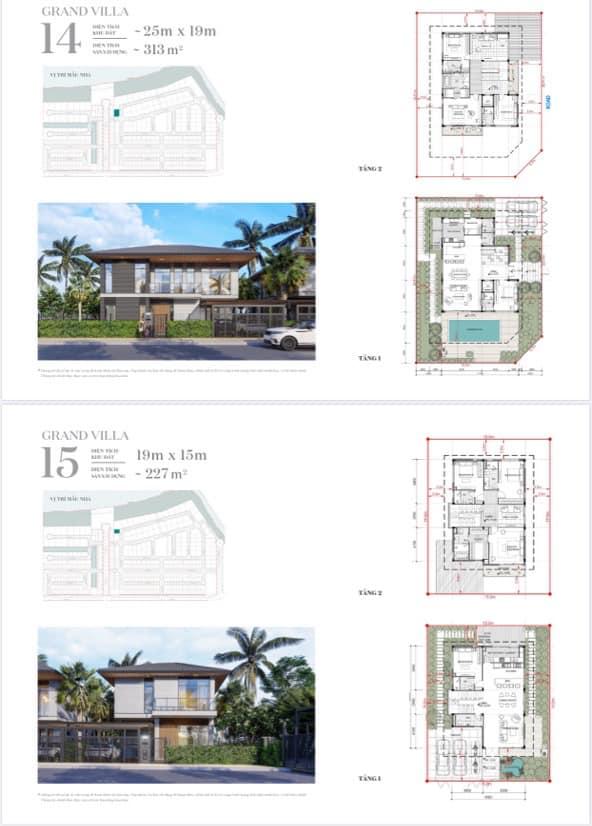 20 mẫu thiết kế Grand Villa và Riverfront Grand Villa