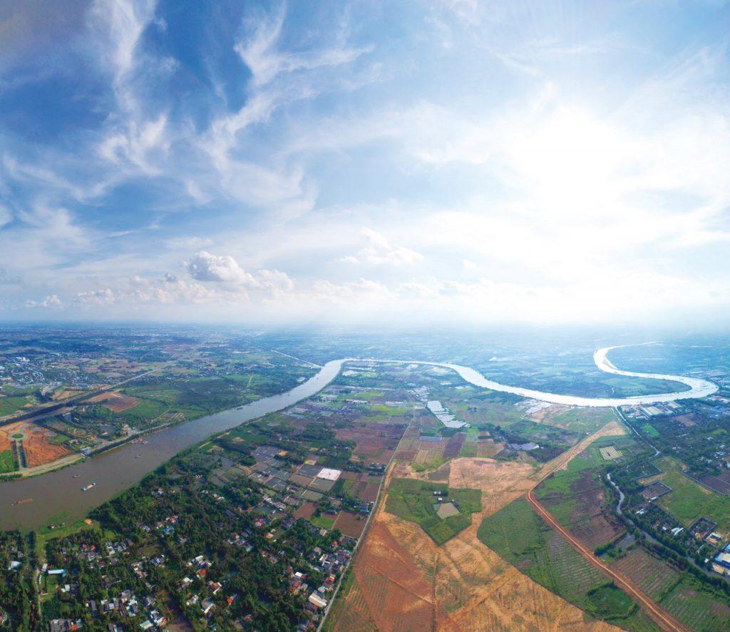 Dự án Waterpoint với 3 mặt giáp sông Vàm Cỏ Đông