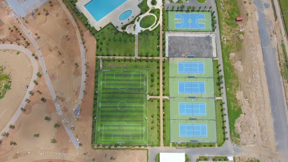 Tiện ích thể thao: hệ thống bể bơi, đường chay bộ, phòng tập, khu thể thao, đường chay bộ