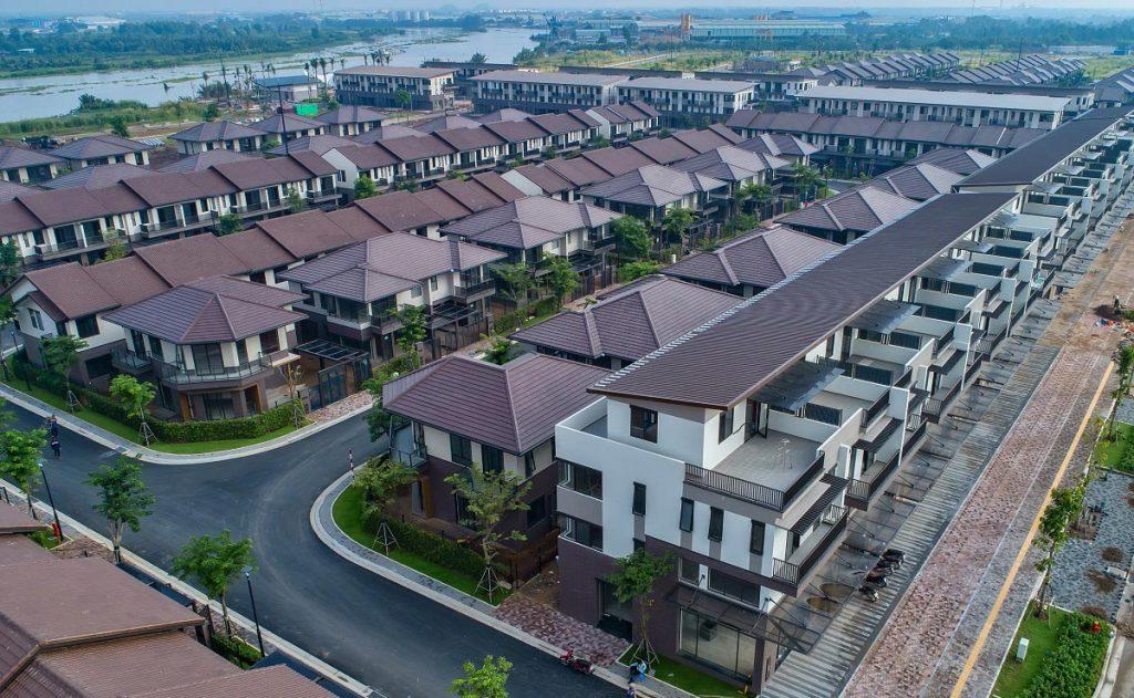 Hình ảnh thự tế Shophouse Waterpoint Nam Long tháng 10/2020
