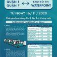 Lịch trình xe buýt Waterpoint 2020