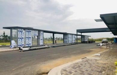 Trạm xe bus Waterpoint sắp hoàn thành