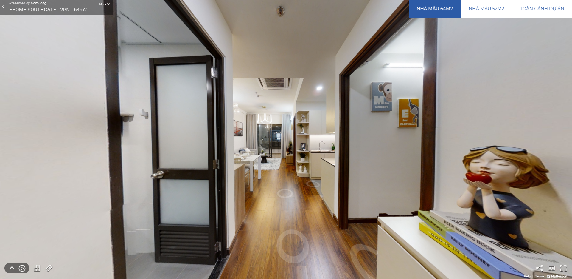 Nhà mẫu căn hộ Ehome Waterpoint Nam Long 64m2